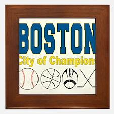 Boston City of Champions Framed Tile