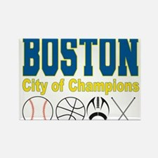 Boston City of Champions Rectangle Magnet