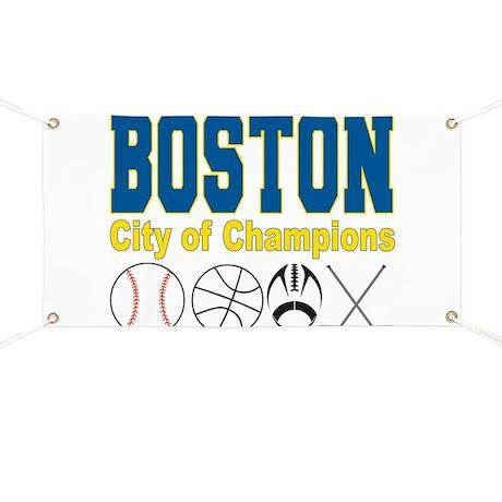 Boston City of Champions Banner