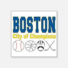 """Boston City of Champions Square Sticker 3"""" x 3"""""""