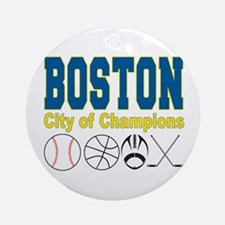 Boston City of Champions Ornament (Round)