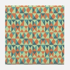 Russell Geometric Triangle Pattern Tile Coaster