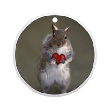 Squirrel Lover's Ornament (Round)