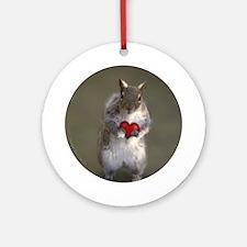 Squirrel Lover's Ornament (Round)