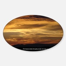 nature inspiration 1b Sticker (Oval)