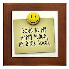 happyplace Framed Tile
