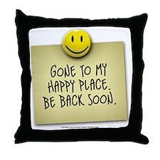happyplace Throw Pillow