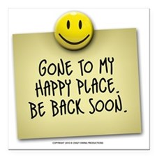 "happyplace Square Car Magnet 3"" x 3"""