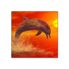 """DolphinDawn-11x11 Square Sticker 3"""" x 3"""""""