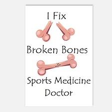 Broken Bone Sports medici Postcards (Package of 8)