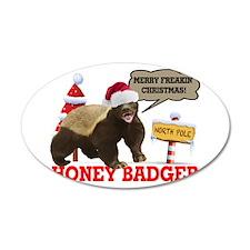 Honey Badger Merry Freakin' Christmas Wall Decal