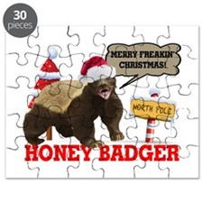 Honey Badger Merry Freakin' Christmas Puzzle