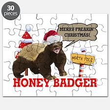 Honey Badger Merry Freakin' Christmas Puzzle