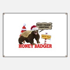 Honey Badger Merry Freakin' Christmas Banner
