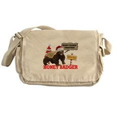 Honey Badger Merry Freakin' Christmas Messenger Ba