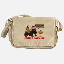 Honey Badger Merry Freakin' Christmas Messenger Ba