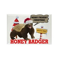 Honey Badger Merry Freakin' Christmas Rectangle Ma