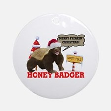 Honey Badger Merry Freakin' Christmas Ornament (Ro