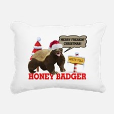 Honey Badger Merry Freakin' Christmas Rectangular