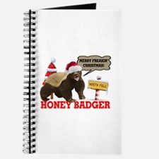Honey Badger Merry Freakin' Christmas Journal