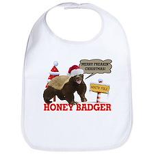 Honey Badger Merry Freakin' Christmas Bib