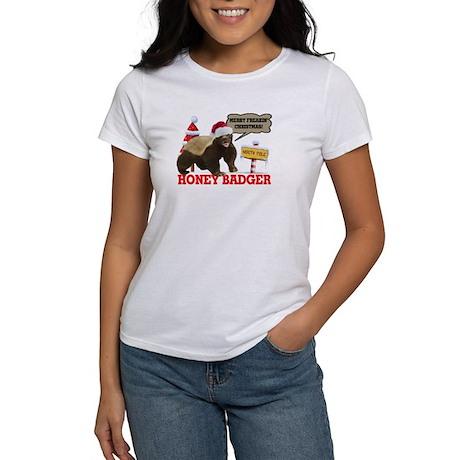 Honey Badger Merry Freakin' Christmas Women's T-Sh