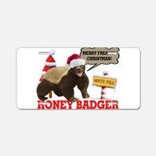Honey Badger Merry Freakin' Christmas Aluminum Lic