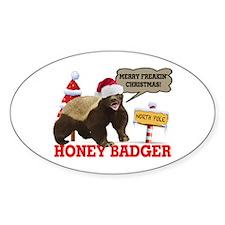 Honey Badger Merry Freakin' Christmas Decal