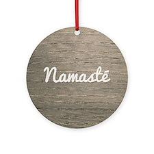 Namaste Round Ornament