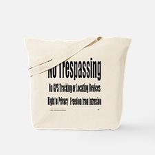 12x12notrespassingsmssjrcp Tote Bag