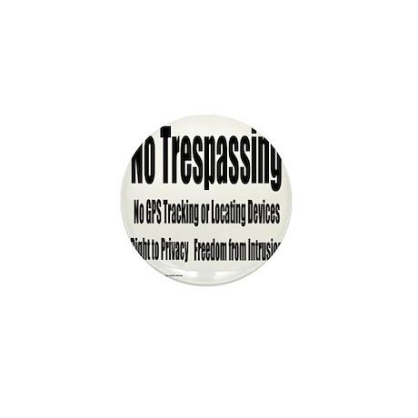12x12notrespassingsmssjrcp Mini Button
