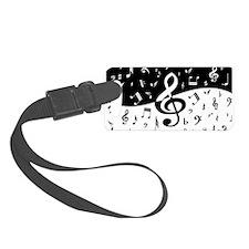 Stylish random musical notes Luggage Tag