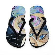 Mermaid Art - Nurture Flip Flops