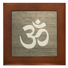 Namaste Yoga Symbol Framed Tile
