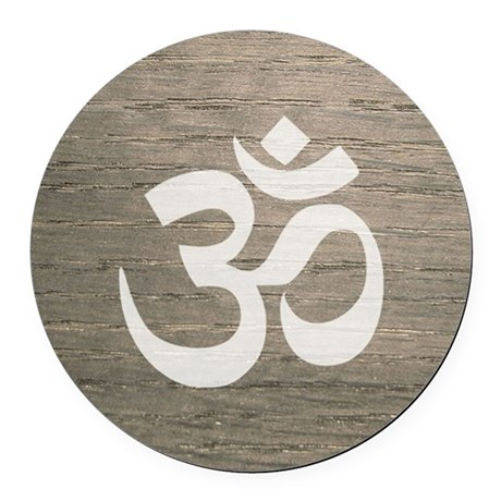 Namaste yoga symbol round car magnet by listing store 142414