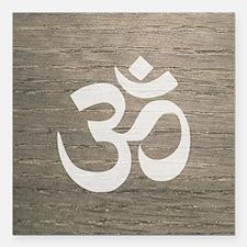"Namaste Yoga Symbol Square Car Magnet 3"" x 3"""