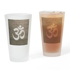 Namaste Yoga Symbol Drinking Glass