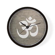 Namaste Yoga Symbol Wall Clock