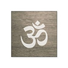 "Namaste Yoga Symbol Square Sticker 3"" x 3"""