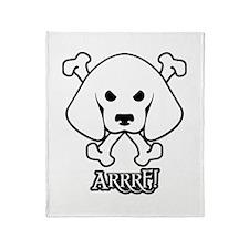 Pirate Beagle with Attitude Throw Blanket