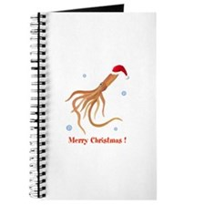 Personalized Christmas Squid Journal