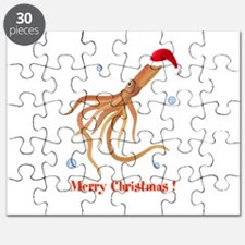 Personalized Christmas Squid Puzzle