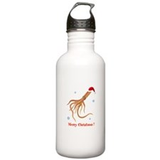 Personalized Christmas Squid Water Bottle