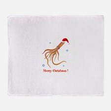 Personalized Christmas Squid Throw Blanket