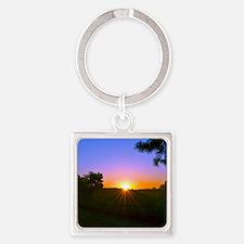 sunrise 9-15-10 Square Keychain