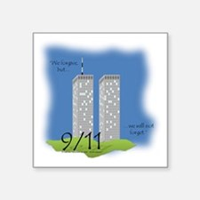 "Shirt Ideas- 911 Twin Tower Square Sticker 3"" x 3"""