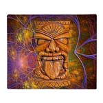 Tiki God Throw Blanket