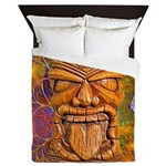 Tiki God Queen Duvet
