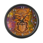 Tiki God Large Wall Clock