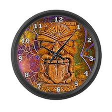 Tiki God Large Wall Clock